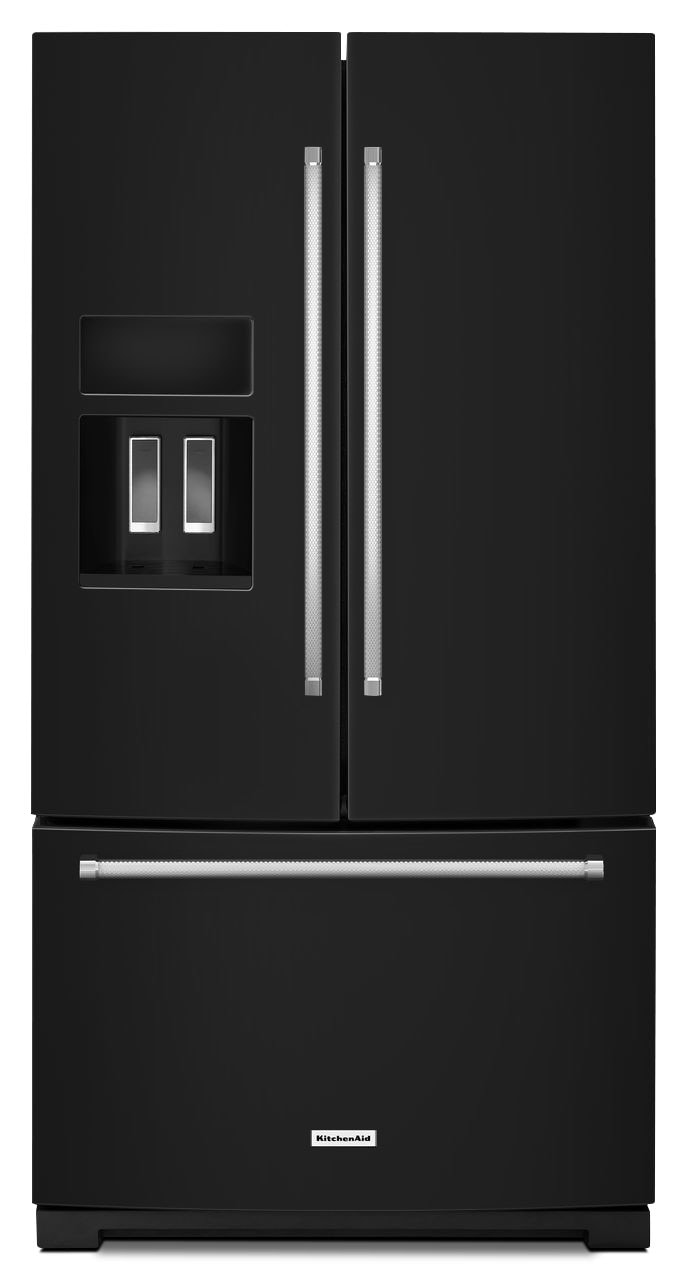 Refrigerators and Freezers - KitchenAid 26.8 Cu.Ft. French Door Refrigerator - Black