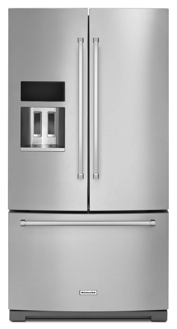 Refrigerators and Freezers - KitchenAid 26.8 Cu.Ft. French Door Refrigerator - Stainless Steel