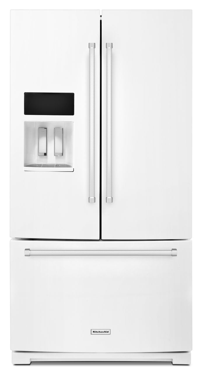 Refrigerators and Freezers - KitchenAid 26.8 Cu.Ft. French Door Refrigerator - White