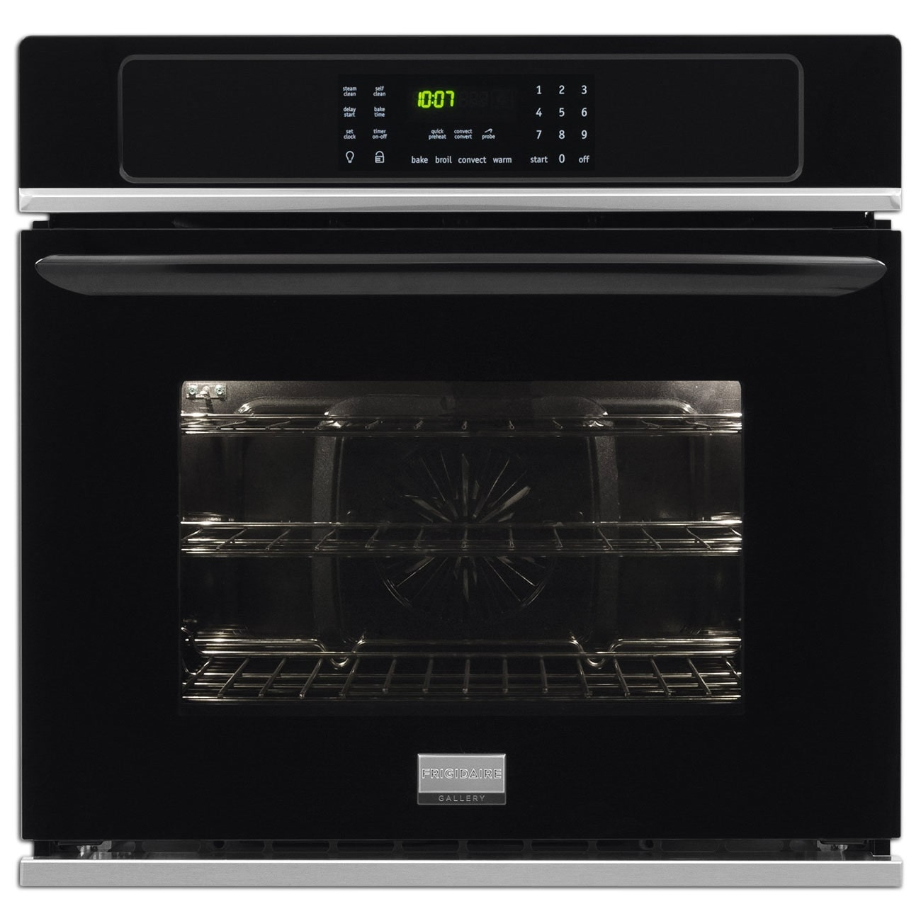 Cooking Products - Frigidaire Gallery Black Convection Wall Oven (4.6 Cu. Ft.) - FGEW3065PB