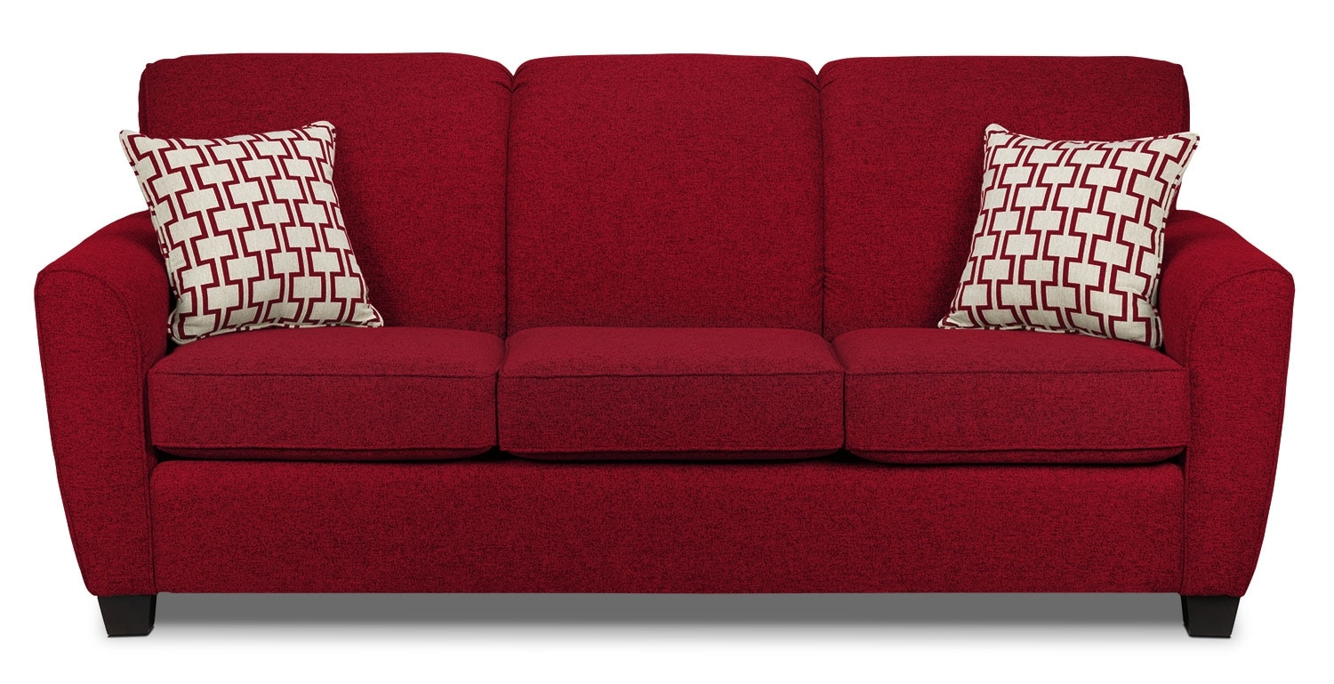 Living Room Furniture - Ashby Sofa - Red