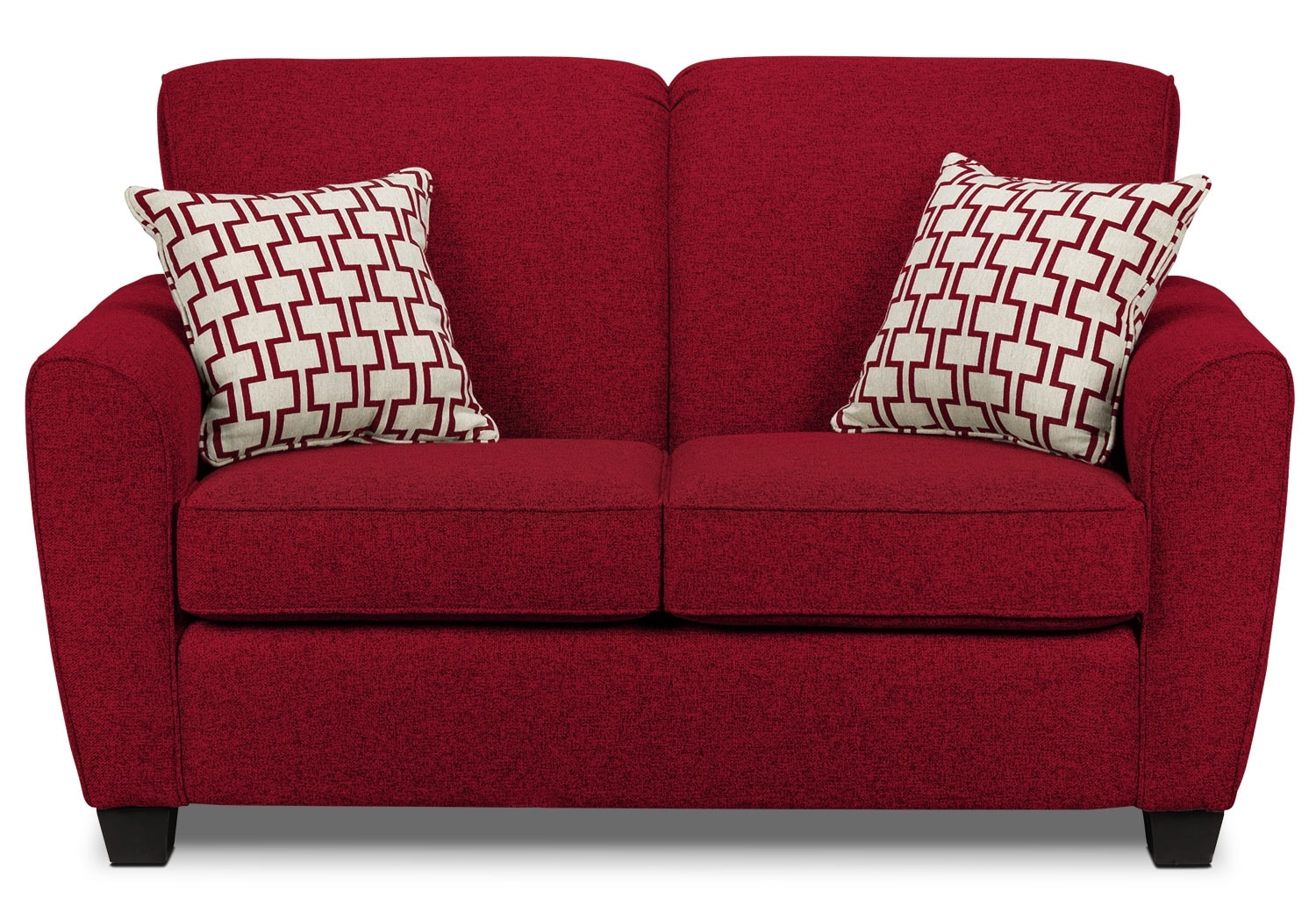Living Room Furniture - Ashby Loveseat - Red