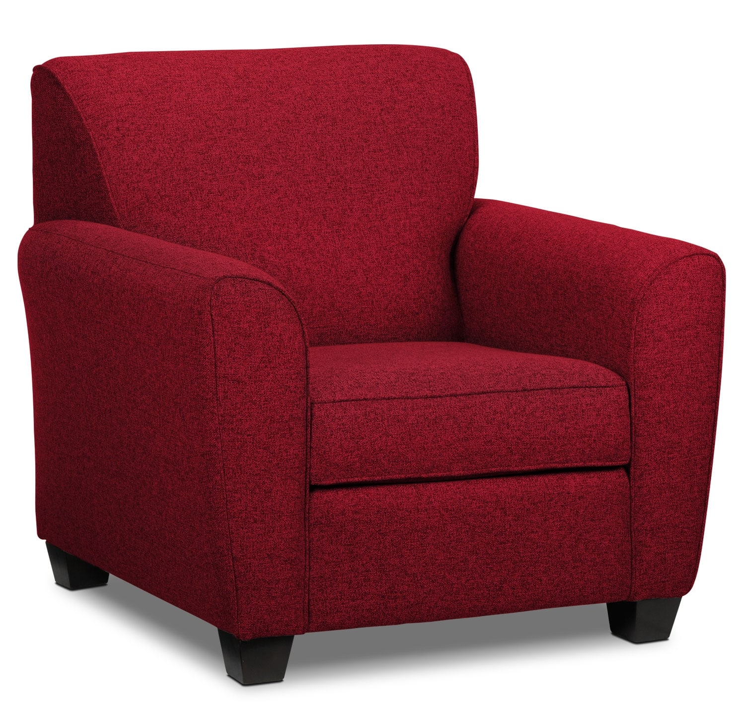 Leon S Furniture Sectional Sofas: Ashby Sofa - Red