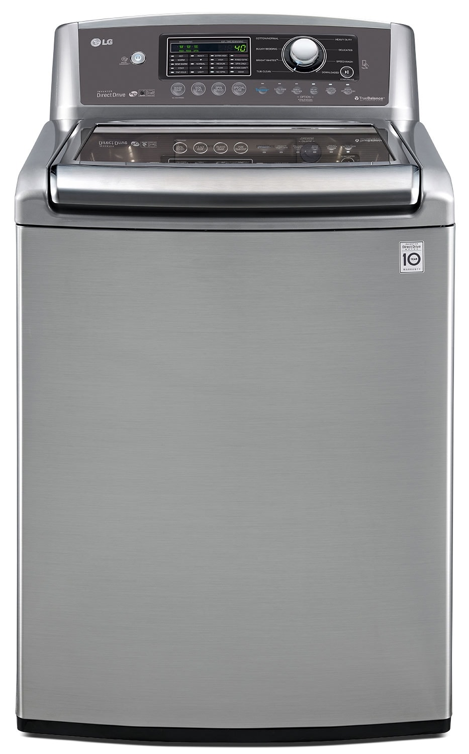 Washers and Dryers - LG 5.6 Cu Ft. High-Efficiency Top-Load Washer with NFC Tag On™ - Graphite Steel
