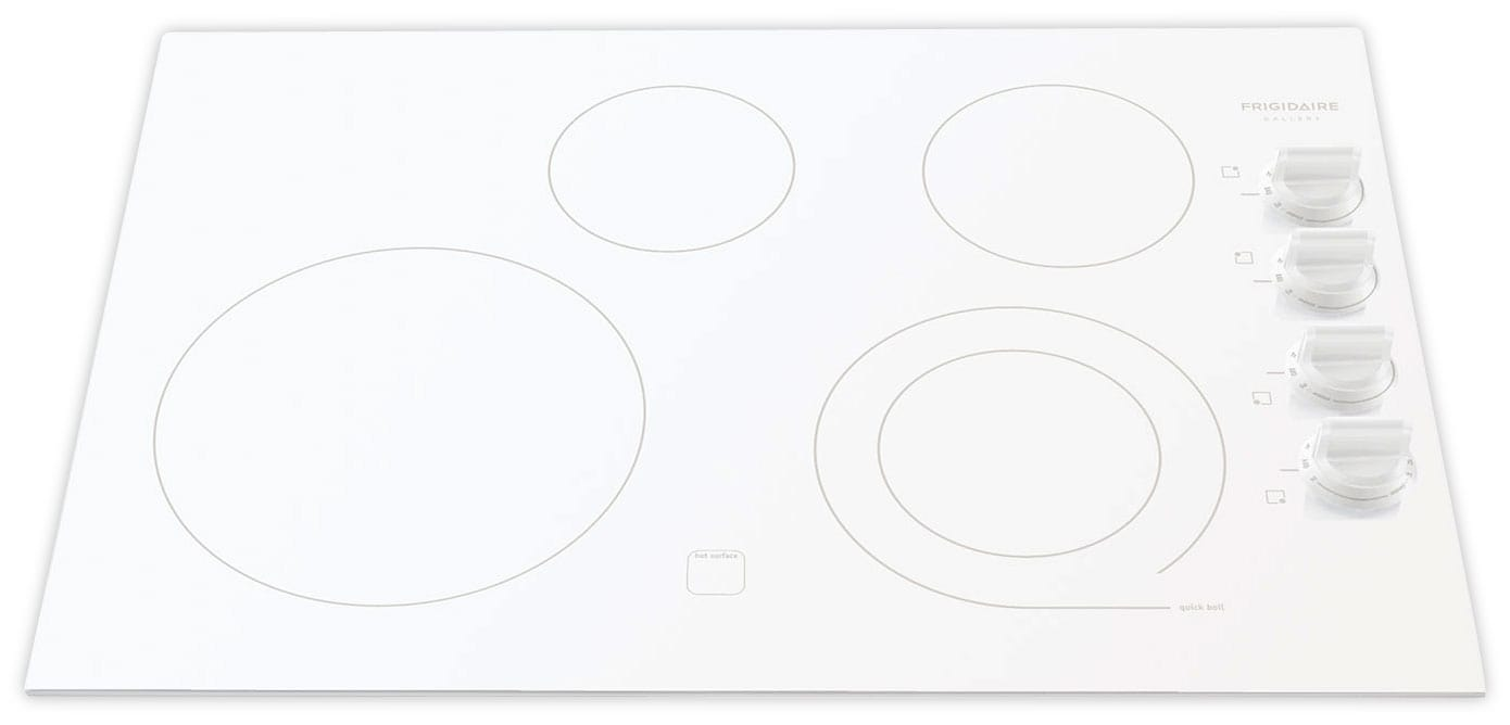 Cooking Products - Frigidaire Gallery White Electric Cooktop - FGEC3045KW