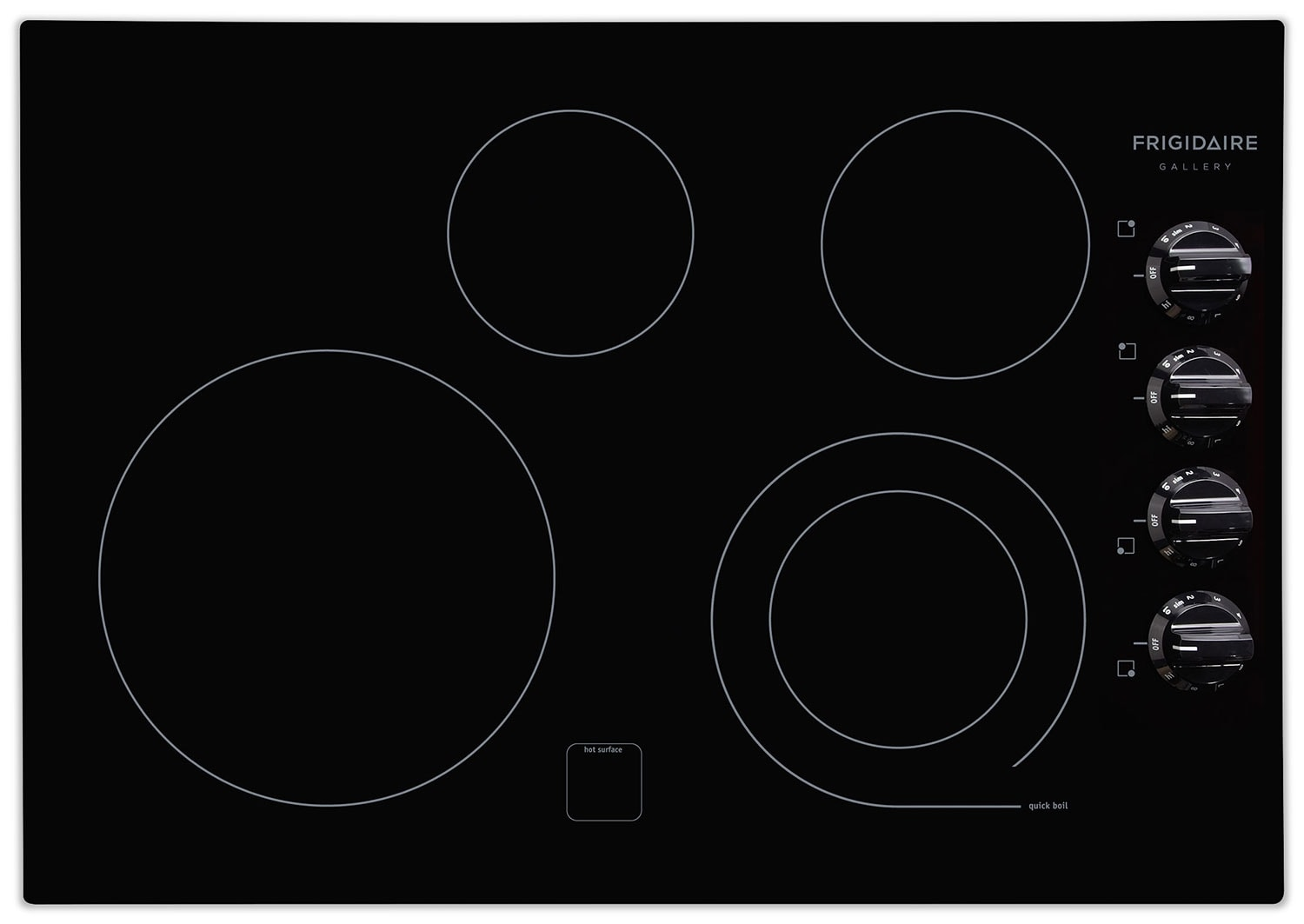 Cooking Products - Frigidaire Gallery Black Electric Cooktop - FGEC3045KB