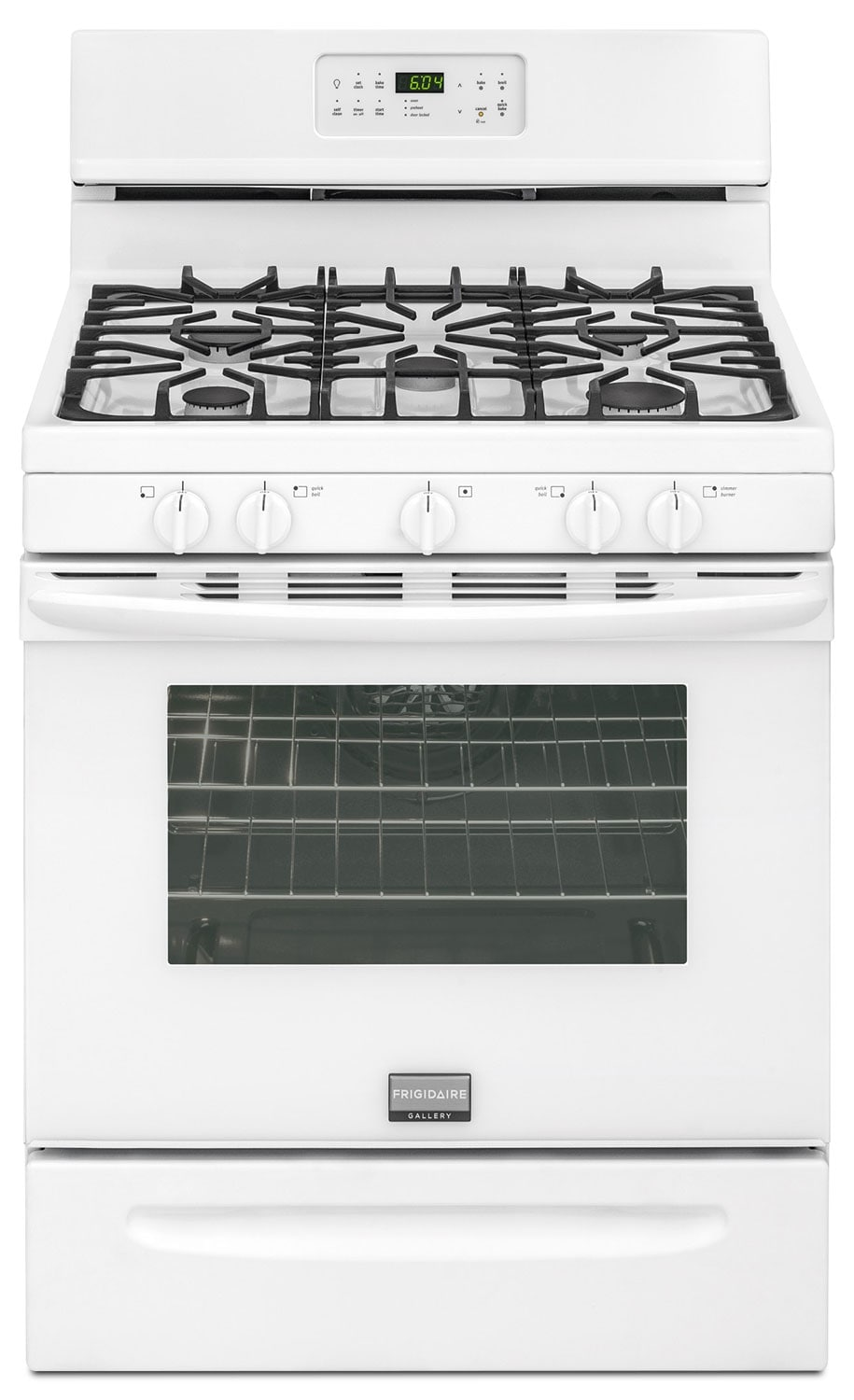 Cooking Products - Frigidaire Gallery White Freestanding Gas Convection Range (5.0 Cu. Ft.) - FGGF3035RW