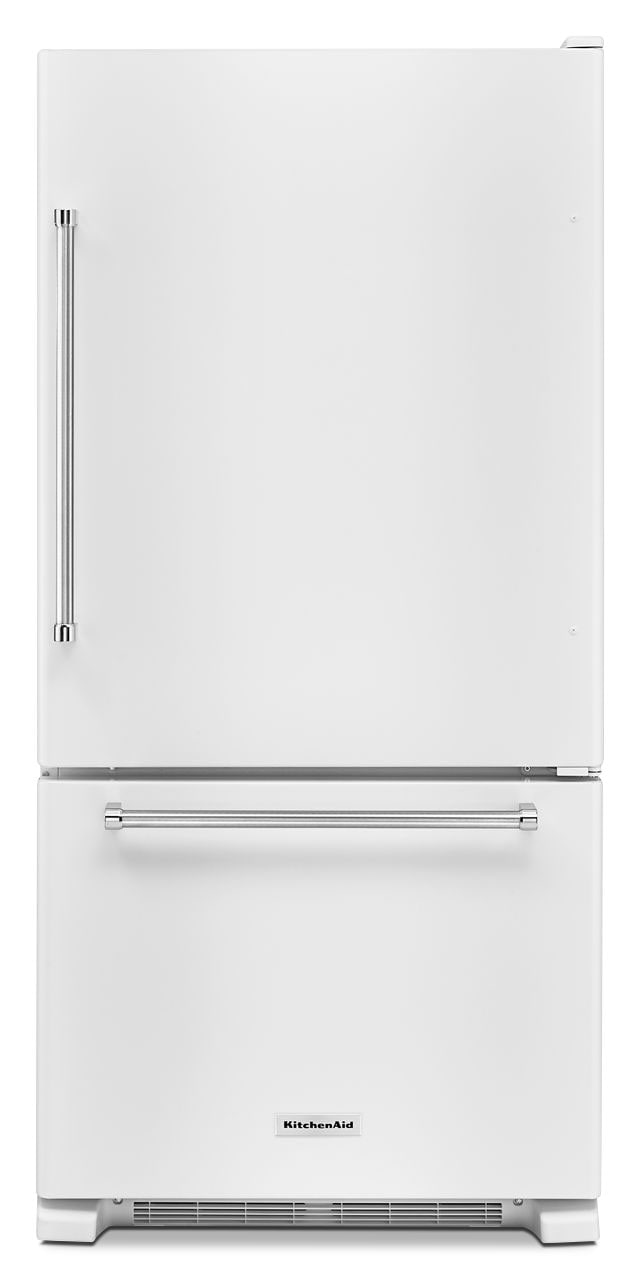 KitchenAid 19 Cu. Ft. Bottom Mount Refrigerator With Reversible Door   White