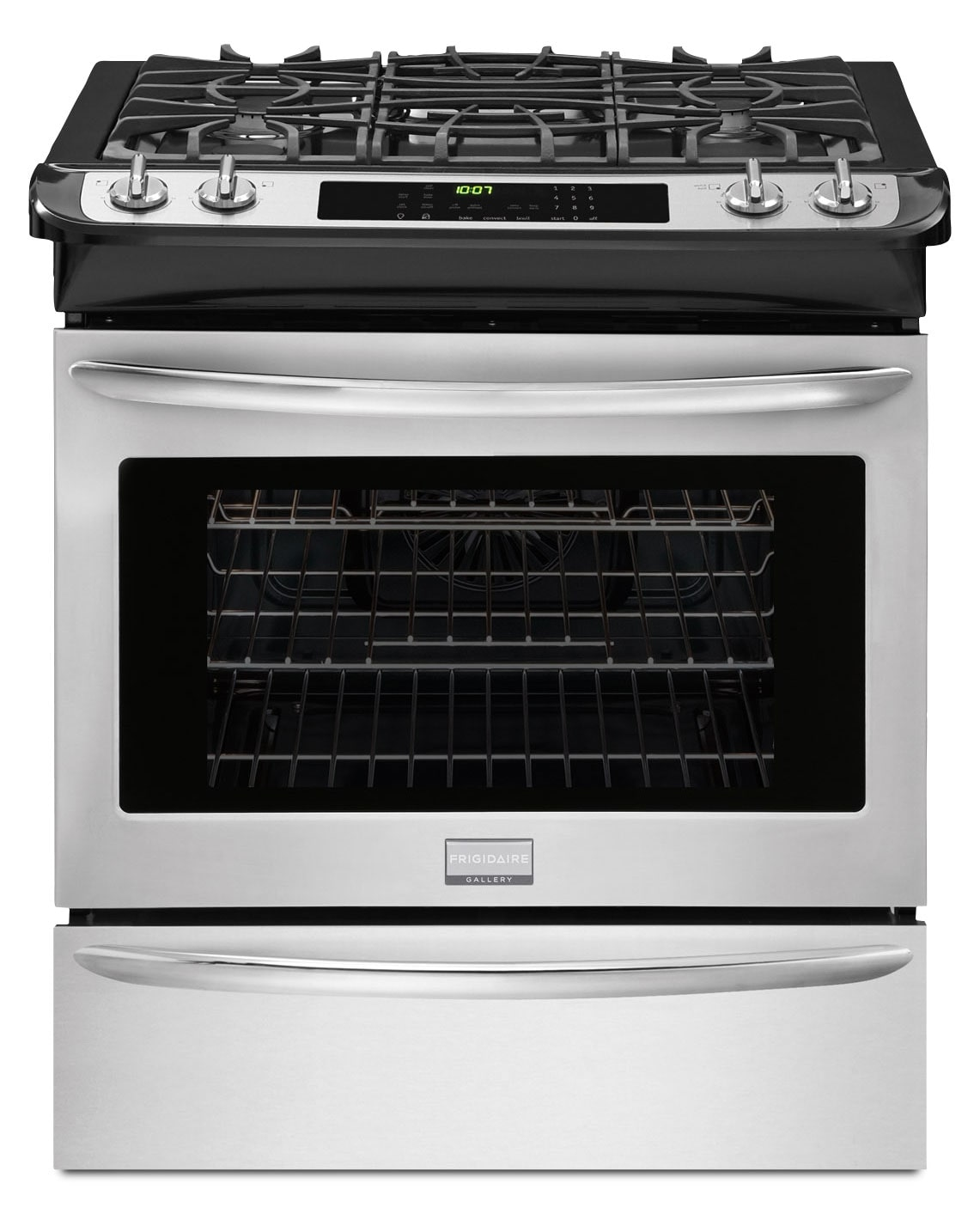 Cooking Products - Frigidaire Gallery Stainless Steel Slide-In Gas Convection Range (4.5 Cu. Ft.) - FGGS3065PF