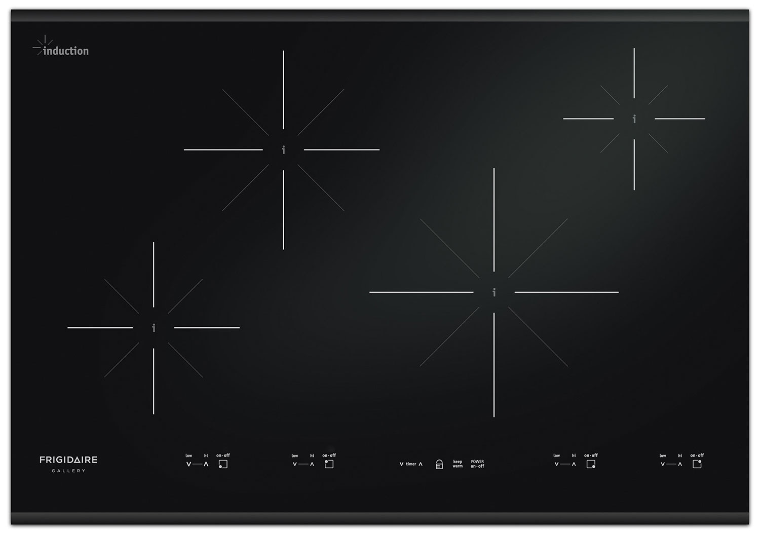Cooking Products - Frigidaire Gallery Black Induction Cooktop - FGIC3067MB