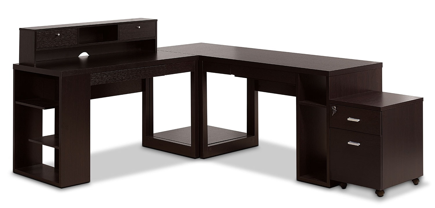 Home Office Furniture - Peyton 5-Piece Desk Package