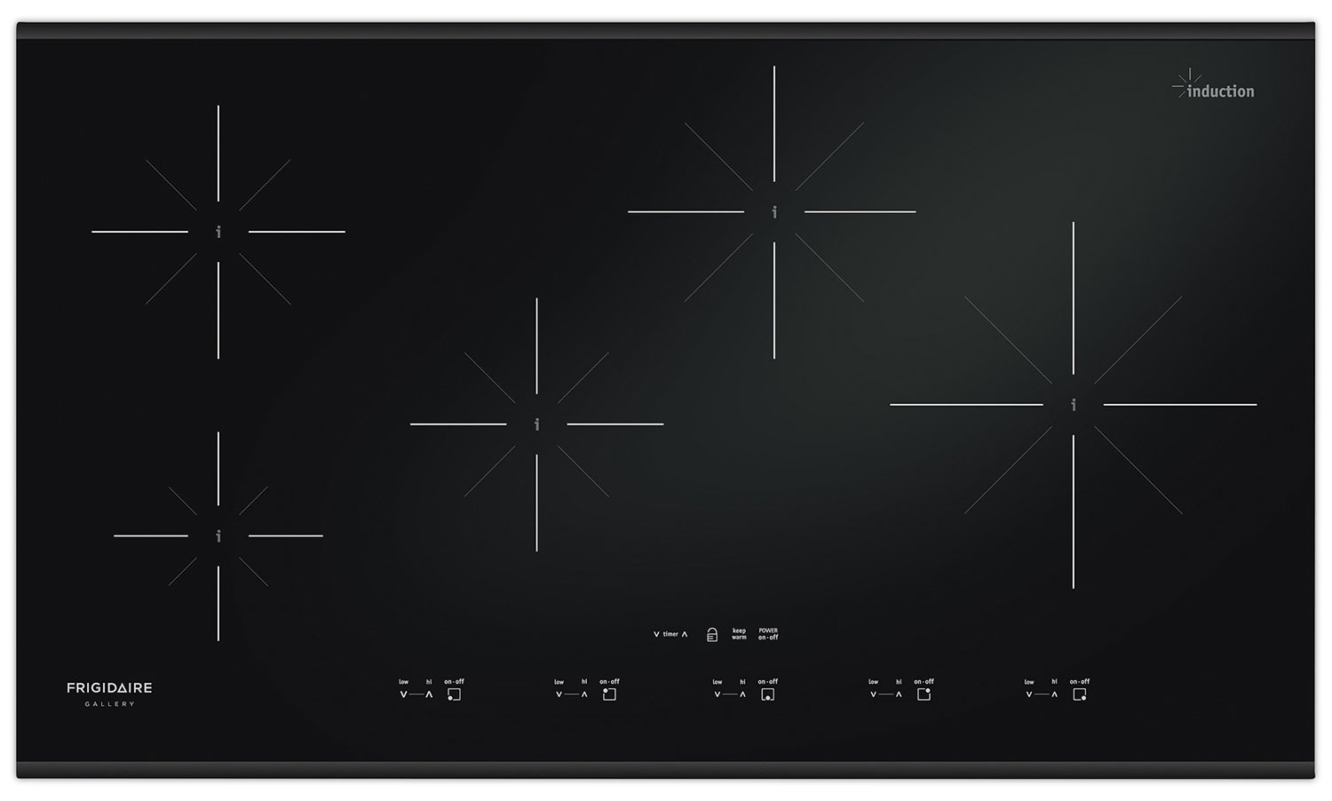 Cooking Products - Frigidaire Gallery Black Induction Cooktop - FGIC3667MB
