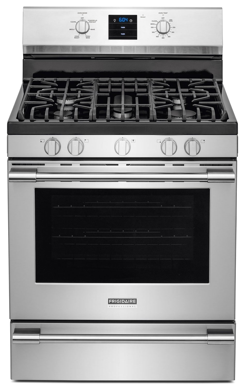 Frigidaire Professional Stainless Steel Freestanding Gas Convection Range (5.6 Cu. Ft.) - FPGF3077QF