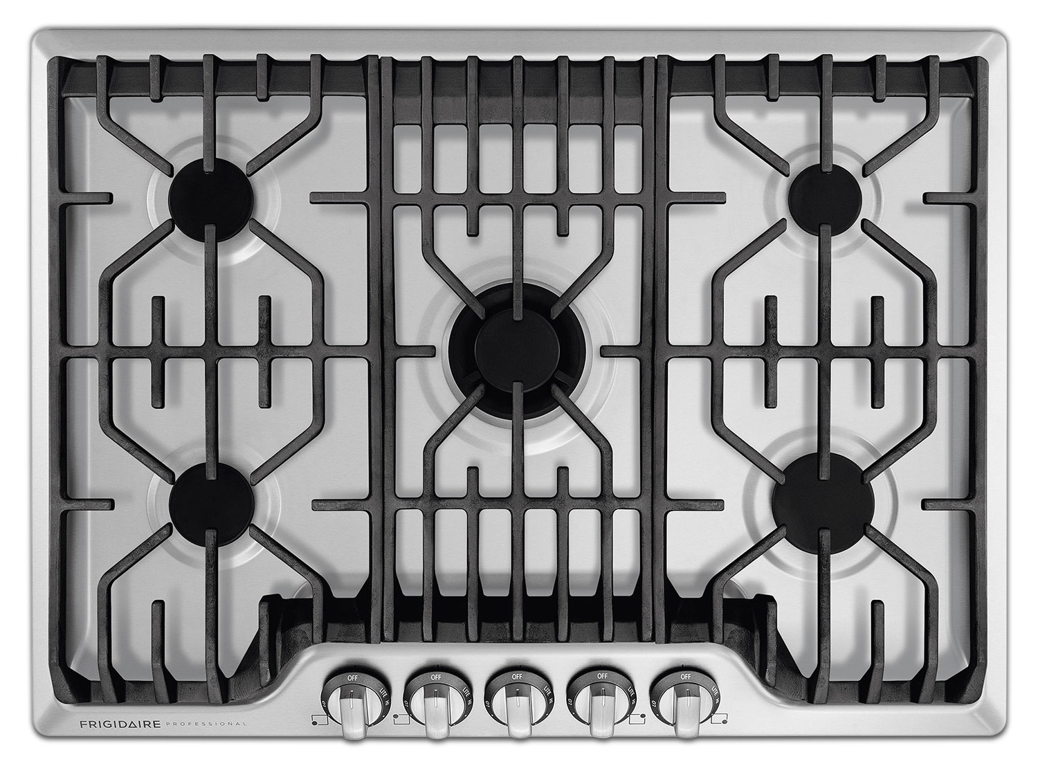 Cooking Products - Frigidaire Professional Stainless Steel Gas Cooktop - FPGC3077RS