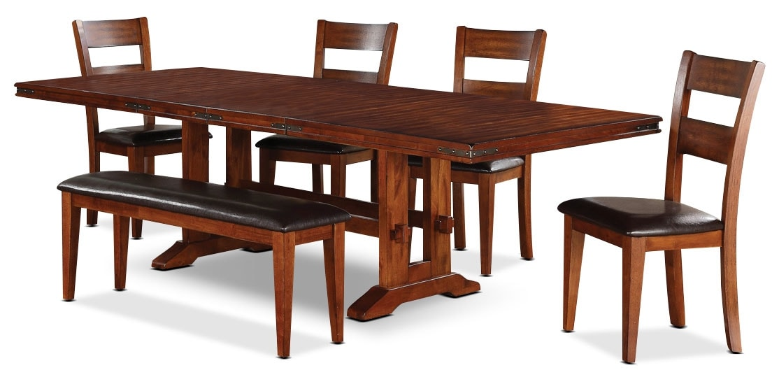 Dining Room Furniture - Magnus 6-Piece Dining Package with Bench