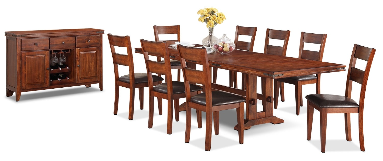Dining Room Furniture - Magnus 10 Piece Dining Package