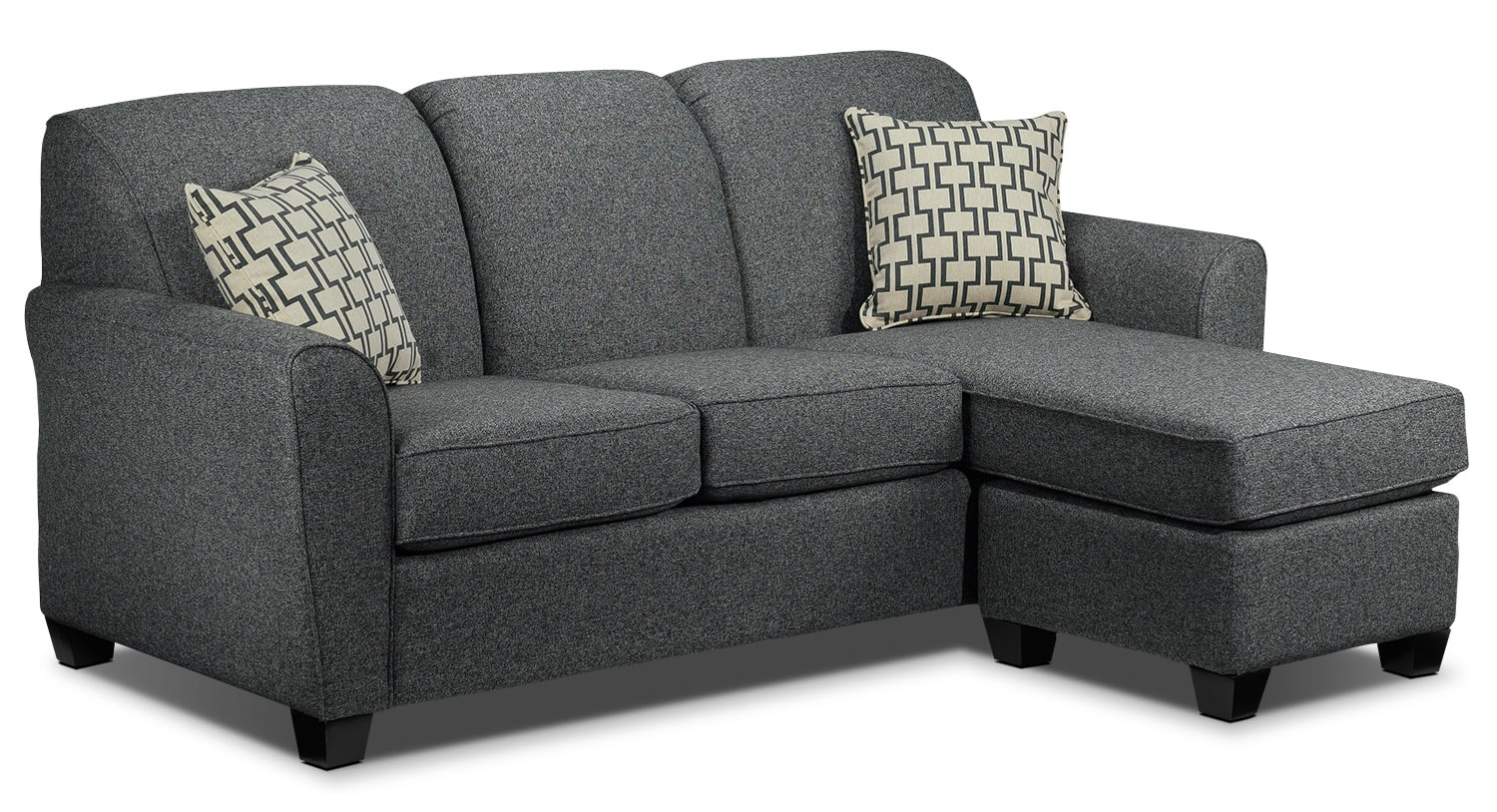 living room grey sofa ashby chaise sofa grey s 16202