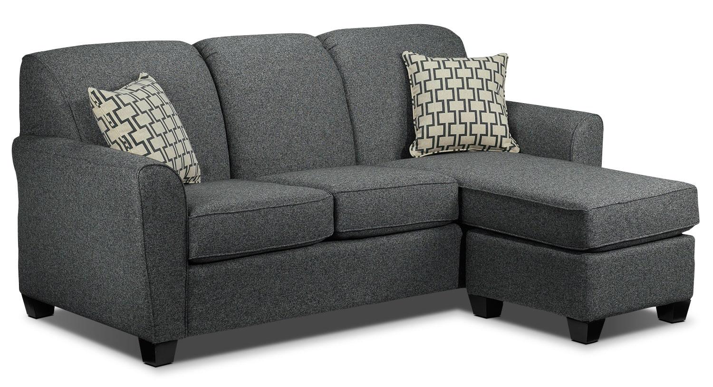Ashby Chaise Sofa Grey Leon S