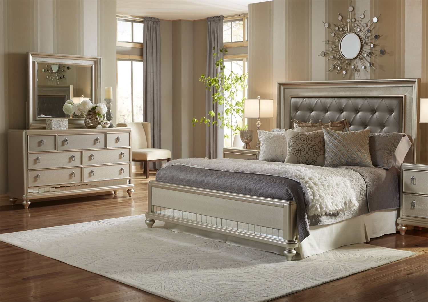 Bedroom Furniture - Diva 5-Piece King Bedroom Package