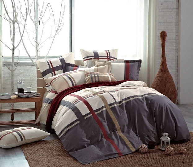 Mattresses and Bedding - Tartan Plaid 5-Piece King Comforter Set