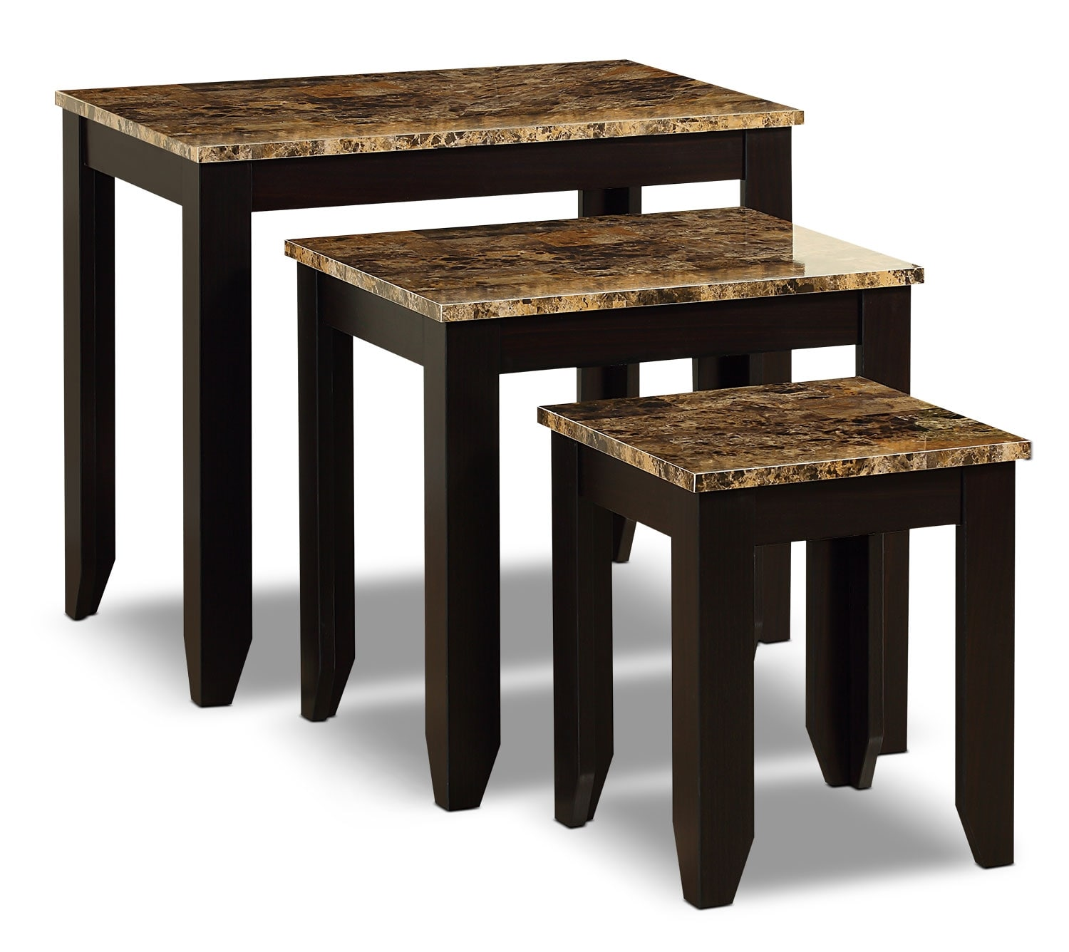 Accent and Occasional Furniture - Roma 3-Piece Nesting Table Package