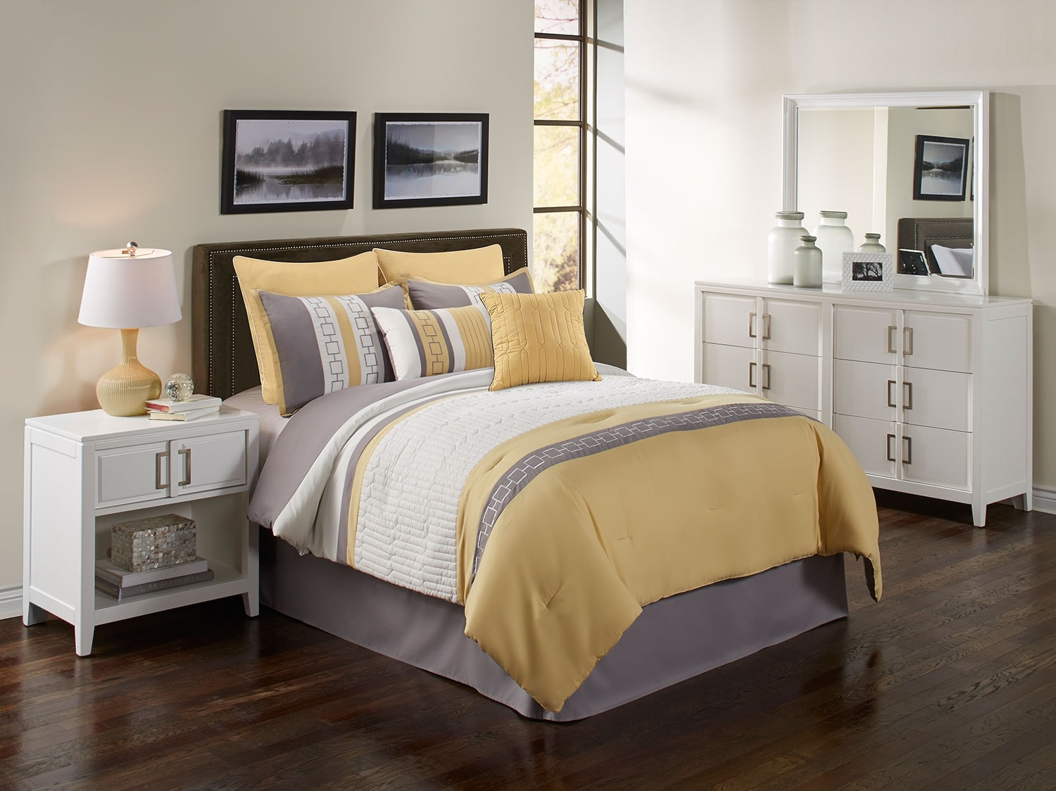Mattresses and Bedding - Hudson 8-Piece Queen Comforter Set