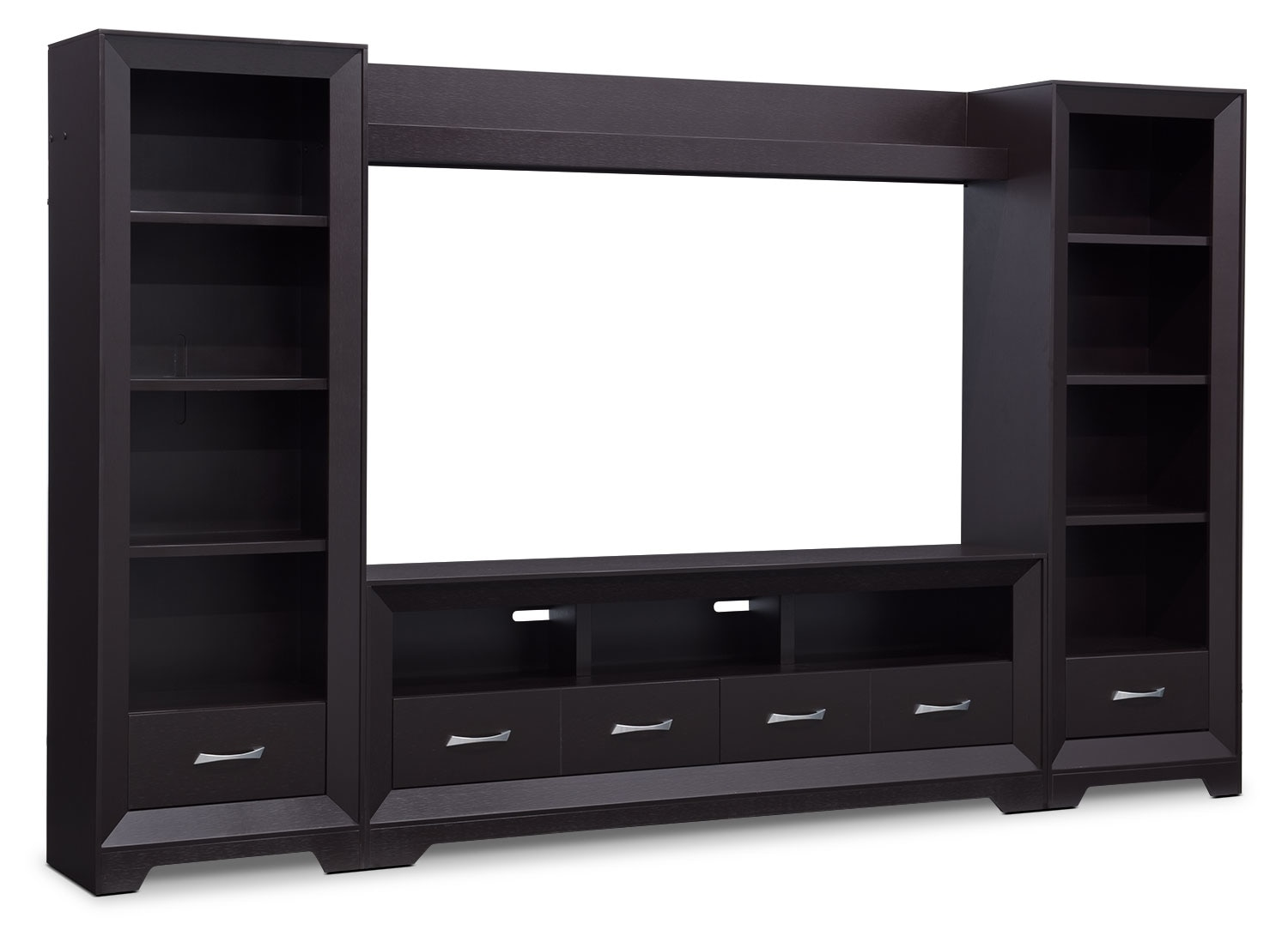 "Entertainment Furniture - Sofia 4-Piece Entertainment Centre with 72"" TV Opening"