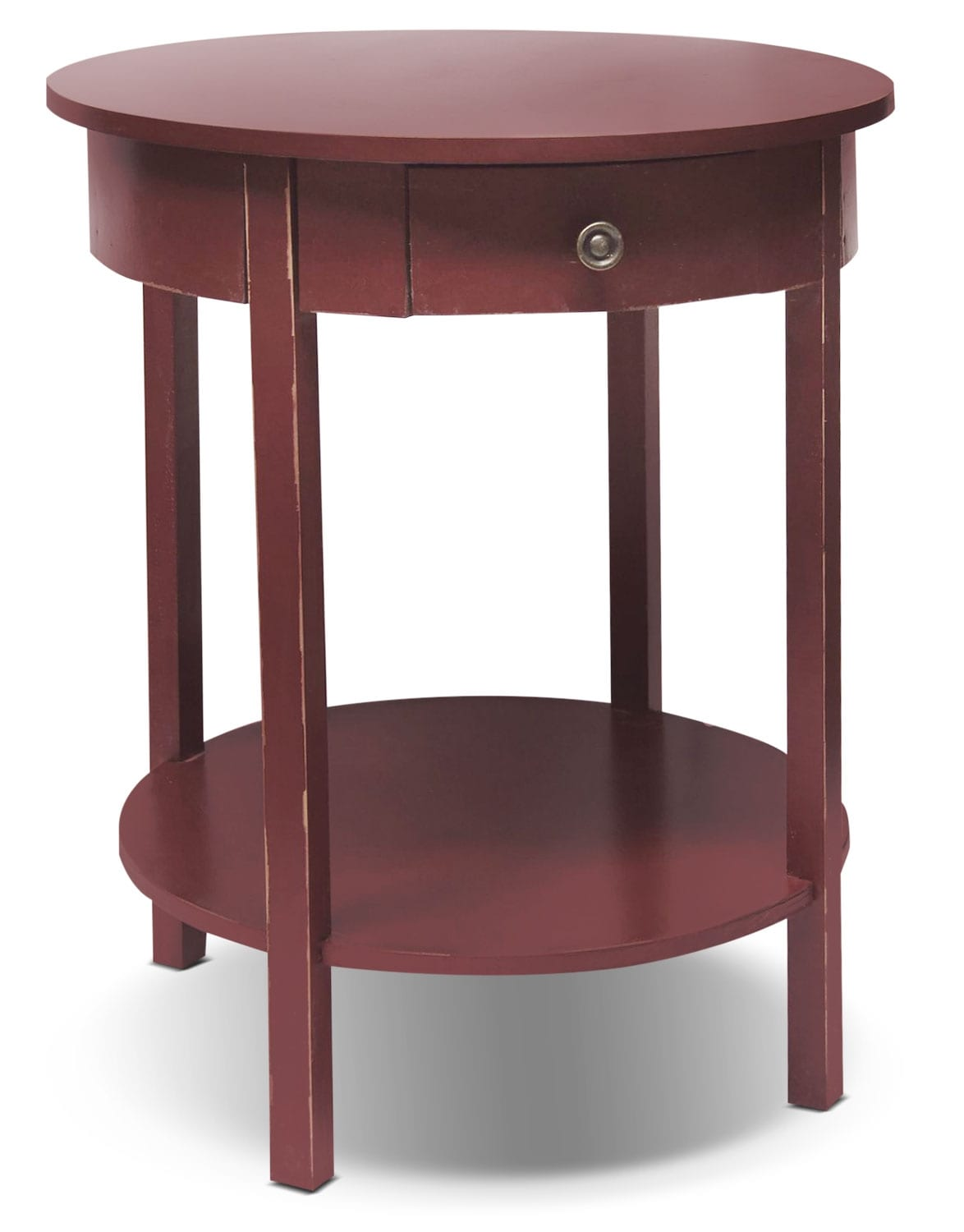 Accent and Occasional Furniture - Grafton Accent Table - Antique Red