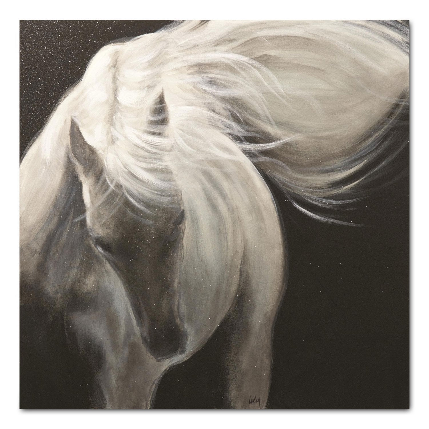"Accent and Occasional Furniture - The White Stallion I - 40"" x 40"""