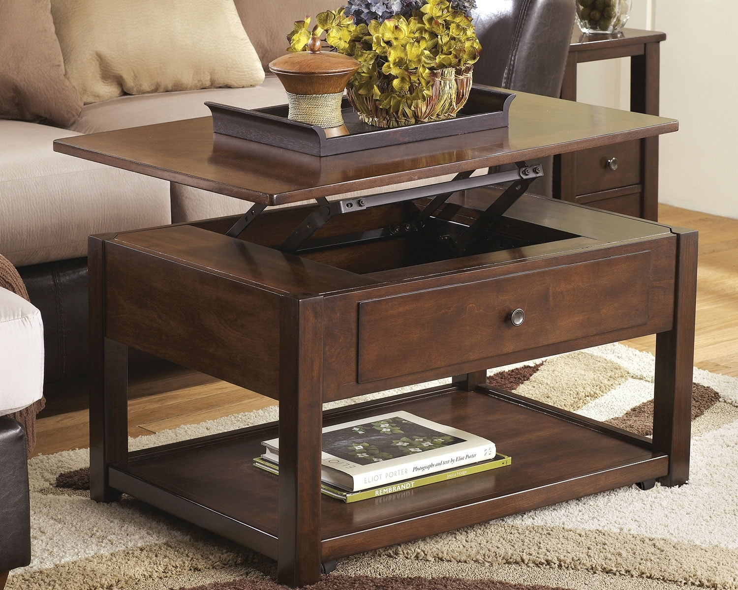 Marion Coffee Table With Lift Top And Casters The Brick