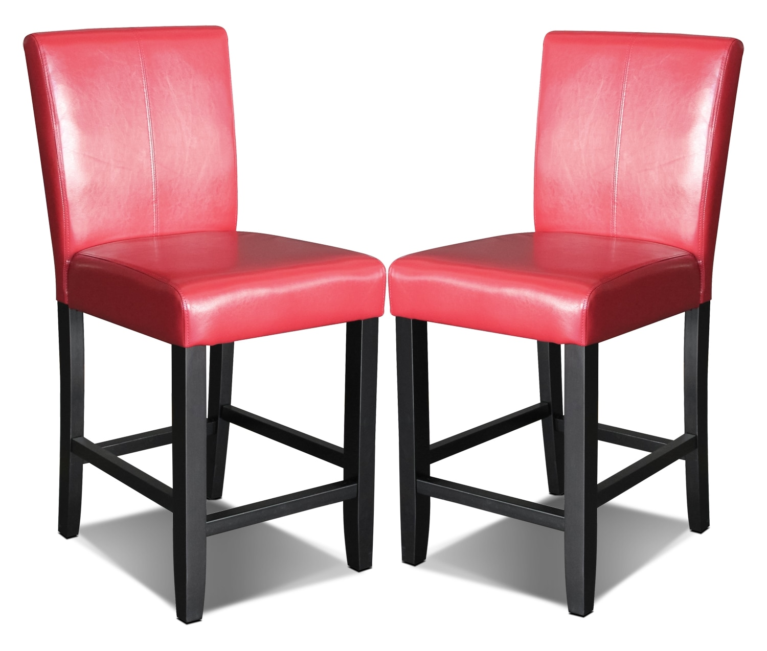 Dining Room Furniture - Kendall Red Accent Counter Height Chair, Set of 2