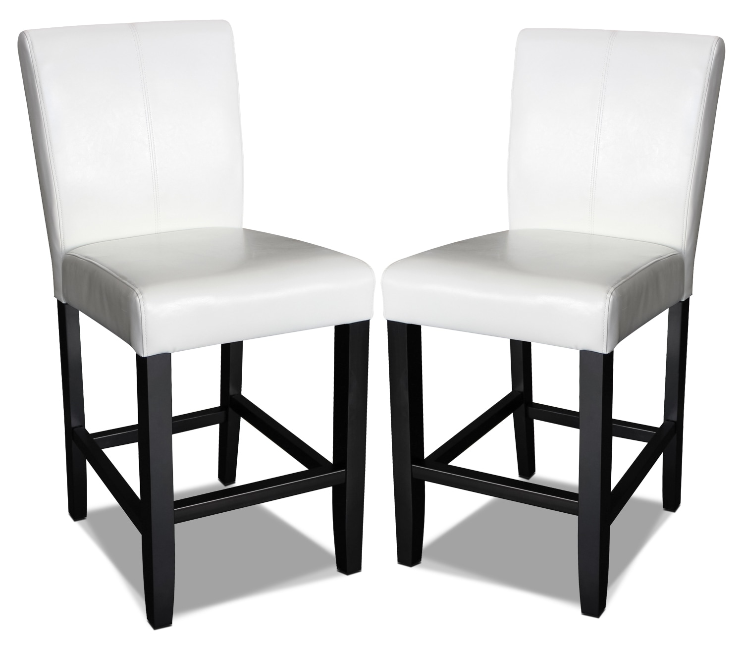 Kendall Off White Accent Counter Chairs, Set of 2