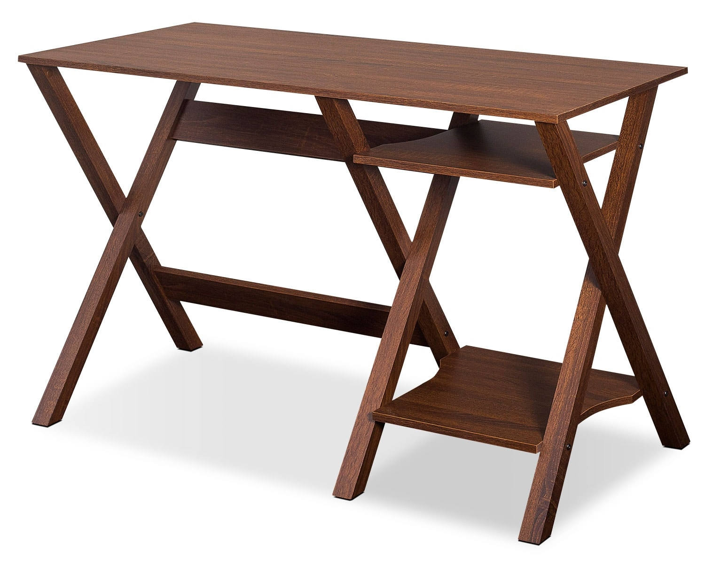"Home Office Furniture - Cadiz 44"" Desk - Warm Oak"