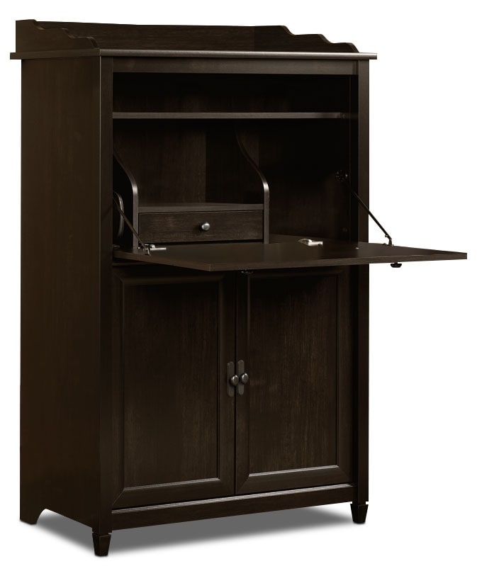 Home Office Furniture - Edge Water SmartCenter® Secretary Computer Cabinet – Estate Black