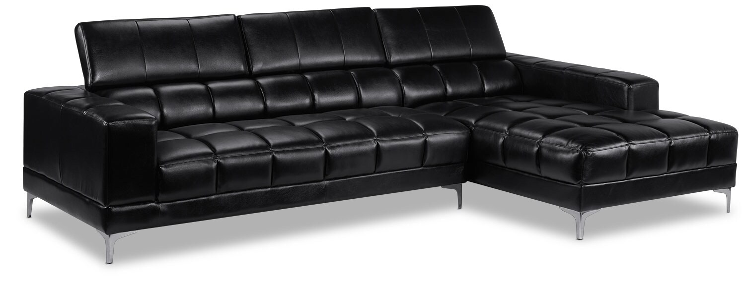 Palermo Black 2 Pc. Sectional