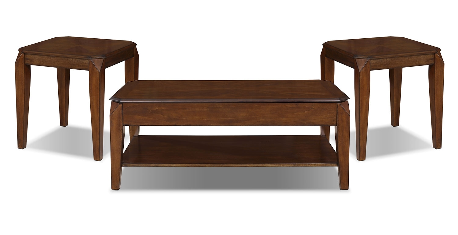 Duntara coffee table with lift top the brick for Coffee tables 3 piece