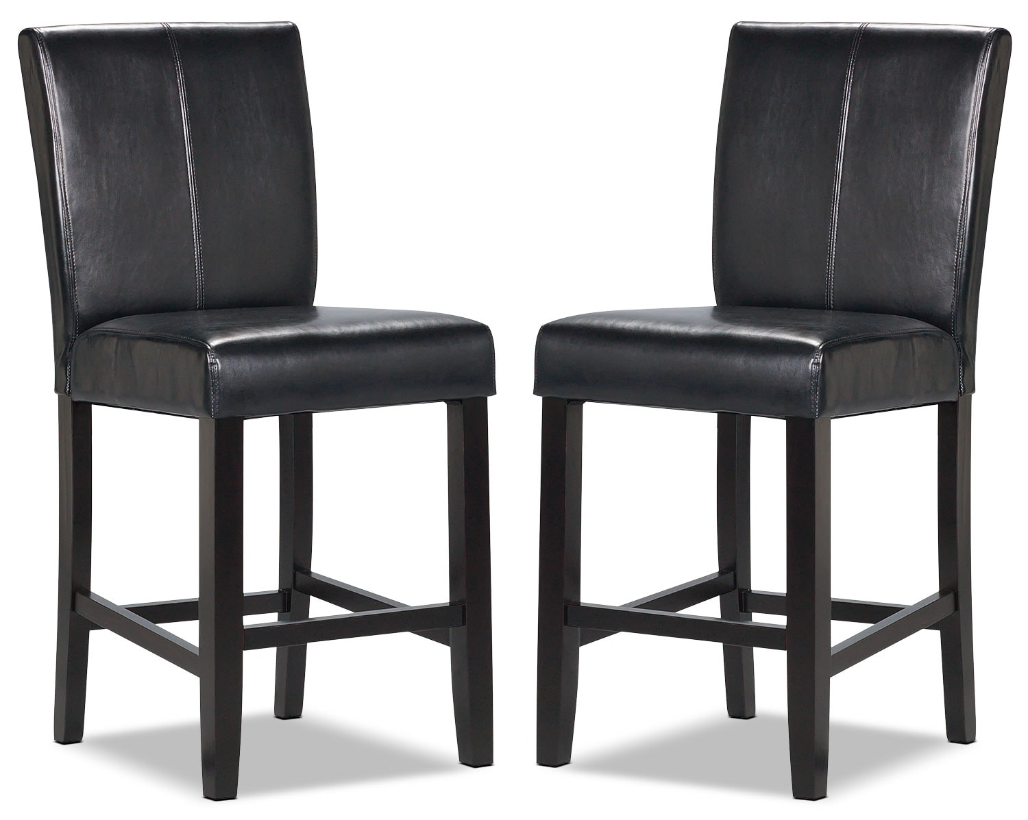 Kendall Black Accent Counter Chairs Set Of 2 The Brick