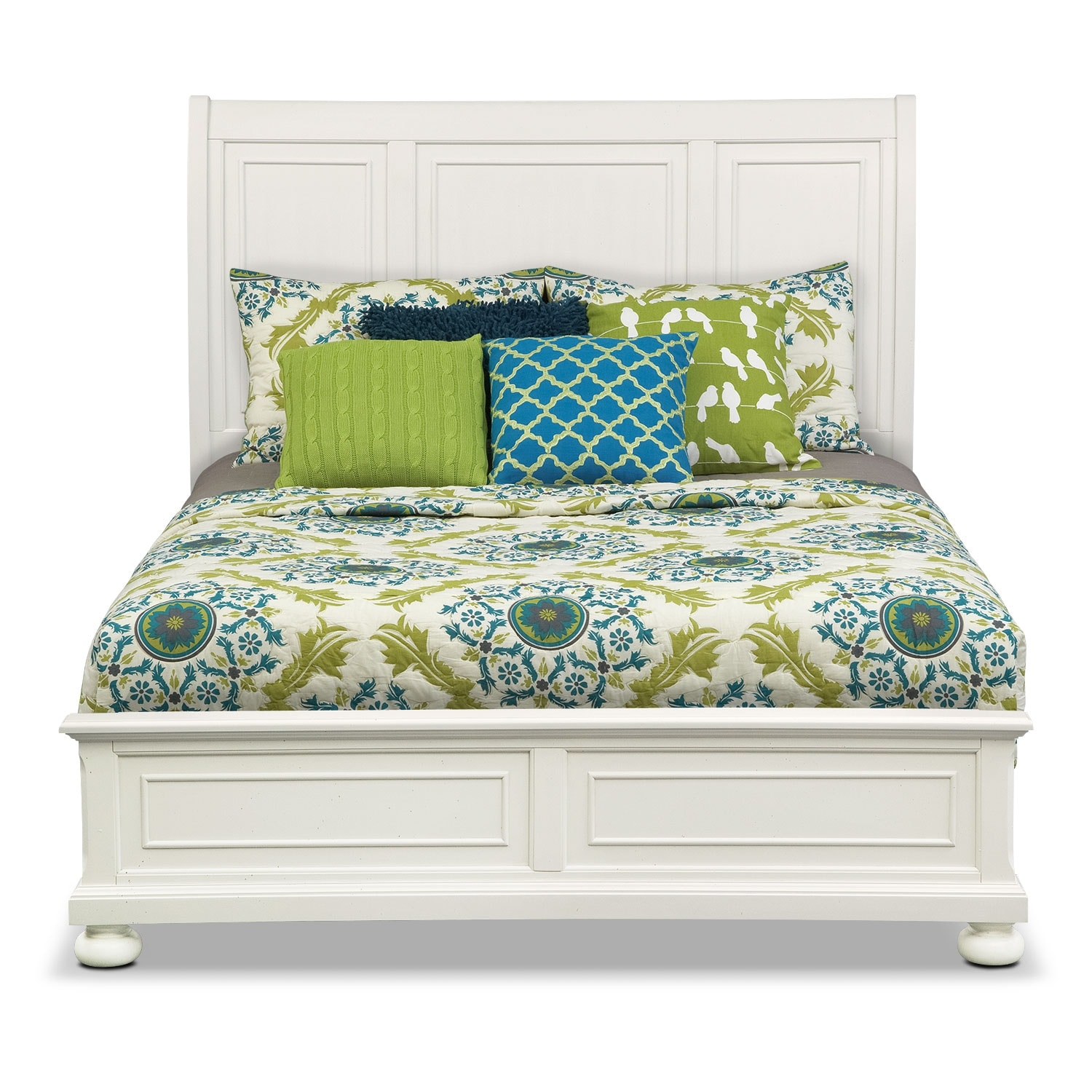 Hanover White Queen Panel Bed American Signature Furniture