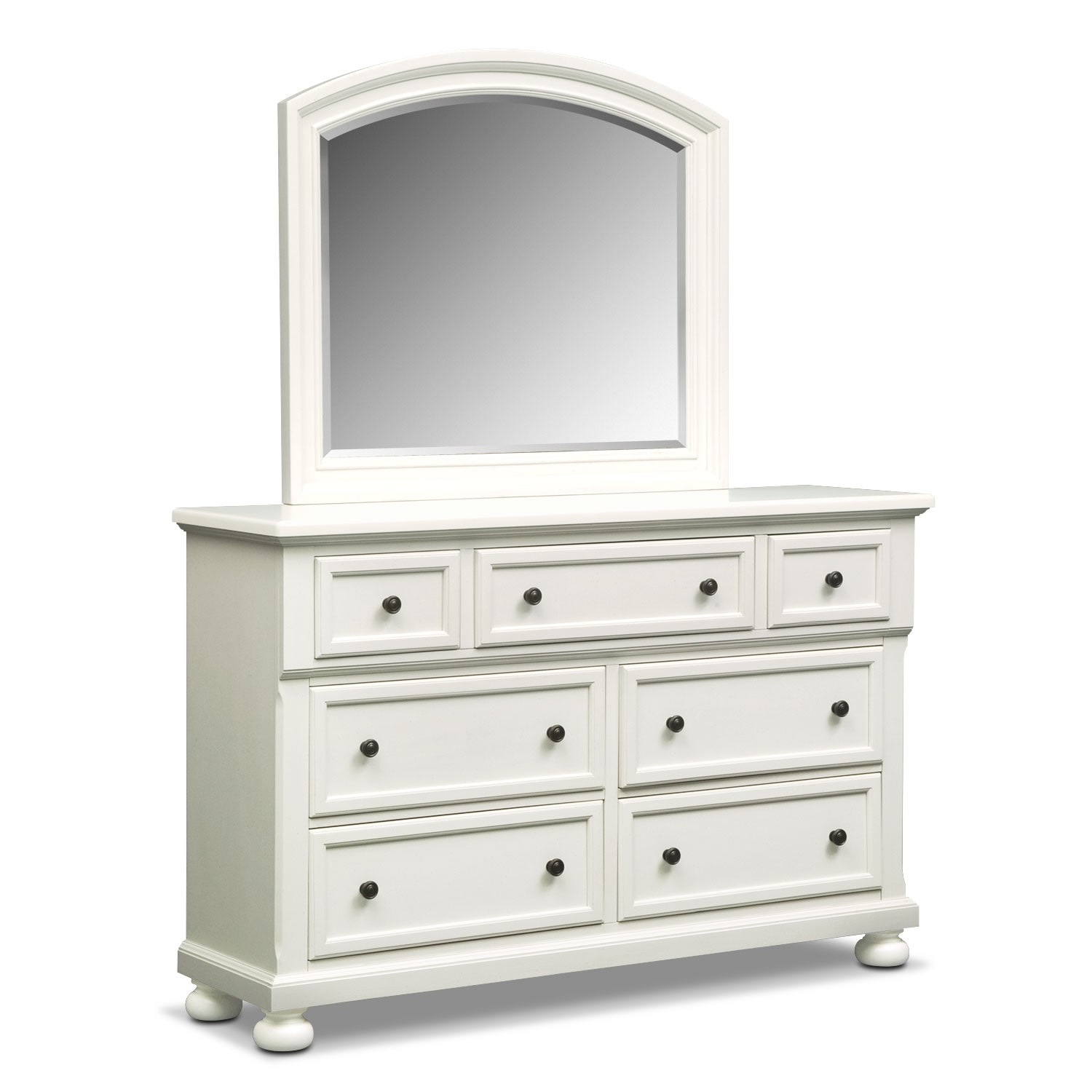 Hanover Dresser And Mirror White Value City Furniture