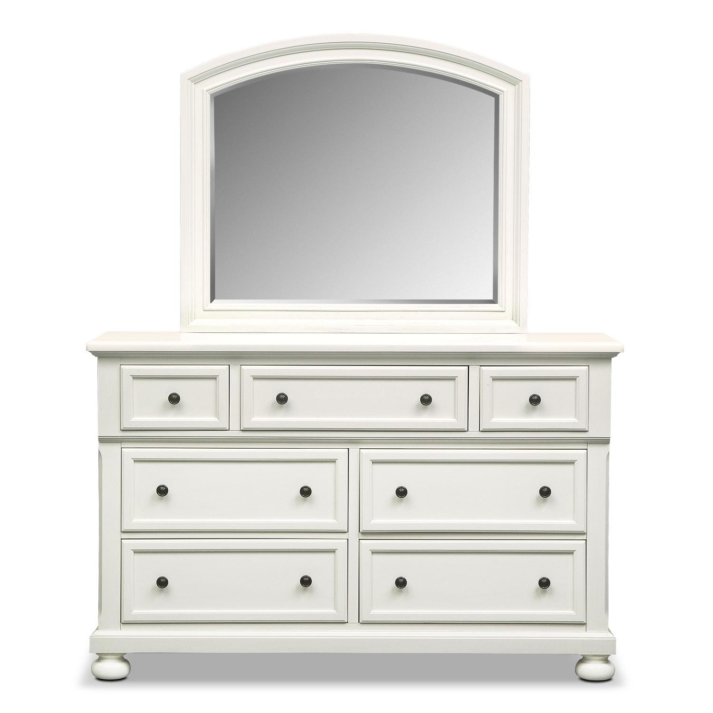 Hanover White Panel Dresser Mirror Value City Furniture