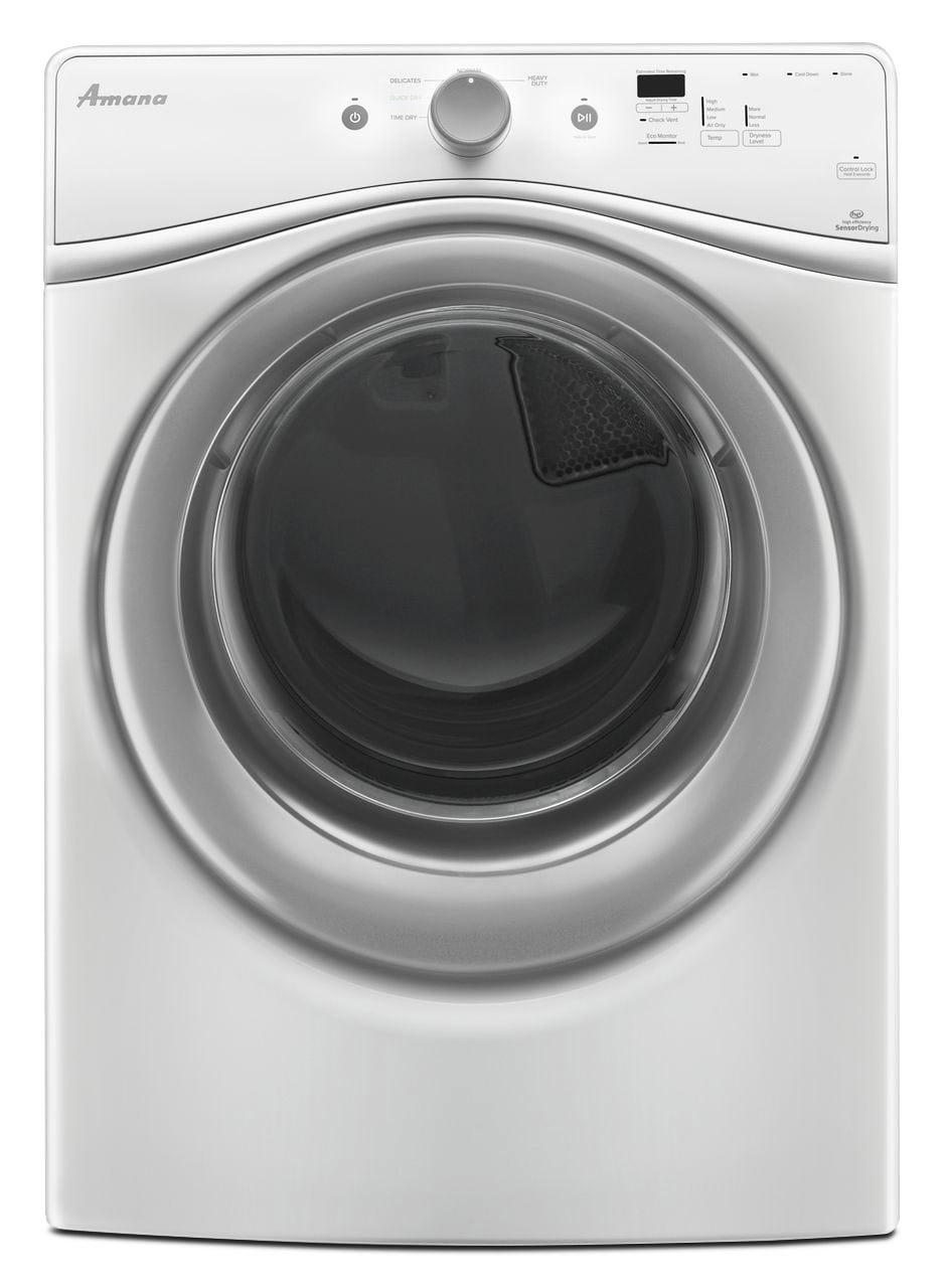 Washers and Dryers - Amana 7.4 Cu. Ft. Electric Dryer - White