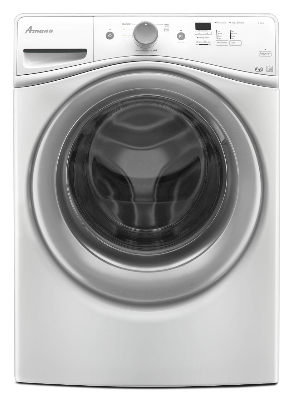 Washers and Dryers - Amana 4.8 Cu. Ft. Front-Load Washer - White