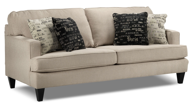 Living Room Furniture - Capella Sofa - Beige