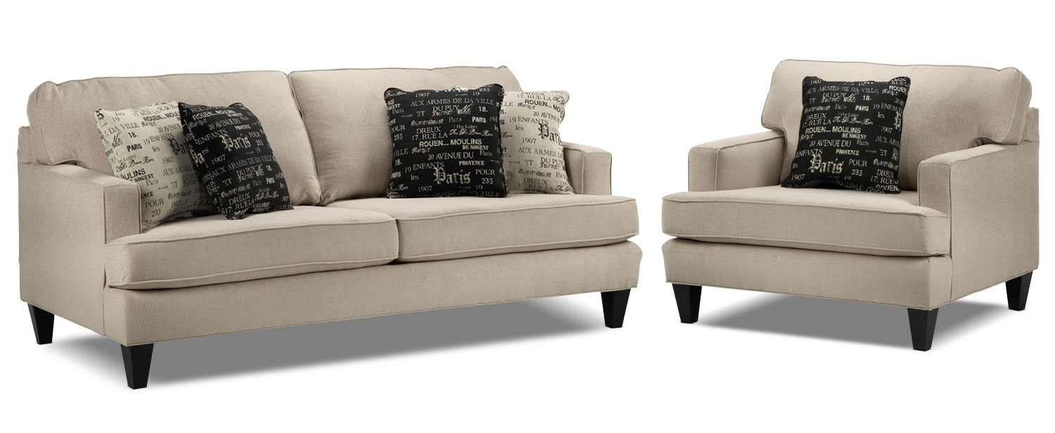 Capella 2 Pc. Living Room Package w/ Chair