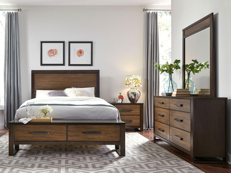 Bedroom Furniture - Hampton 6-Piece Queen Storage Bedroom Package