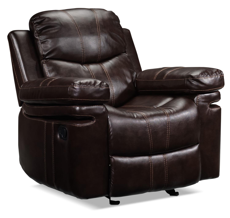 Living Room Furniture - Barcelona Rocker Recliner - Brown