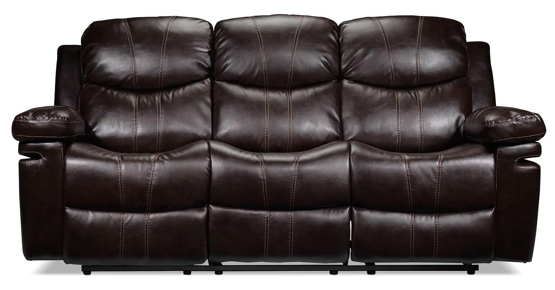 Barcelona reclining sofa brown leon 39 s for Sofas llit barcelona