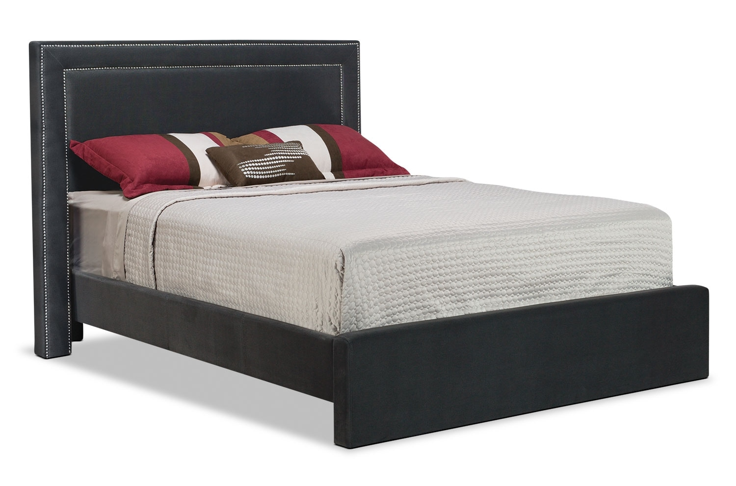 Bedroom Furniture - Amber Queen Bed - Charcoal
