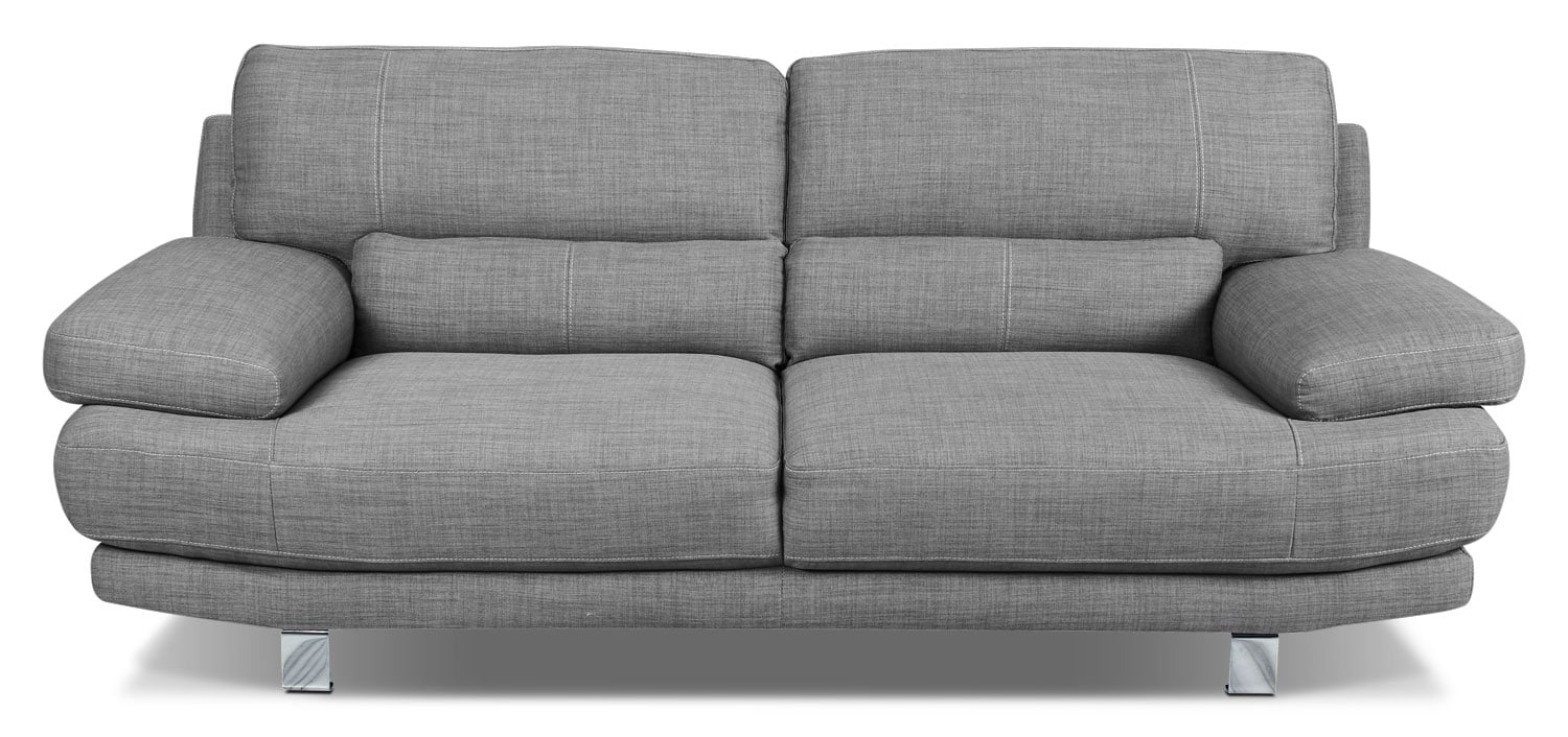 Living Room Furniture - Emilee Fabric Sofa - Ash