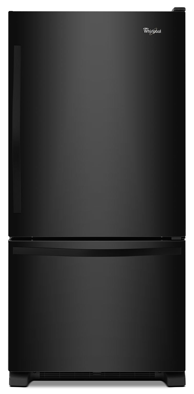 Whirlpool Black Bottom-Freezer Refrigerator with Freezer Drawer (18.7 Cu. Ft.) - WRB329DFBB